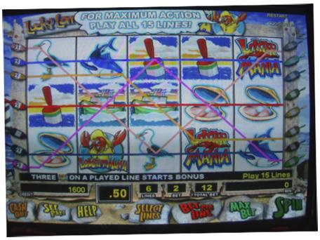吃角子老虎機顯示最大限度的賭注